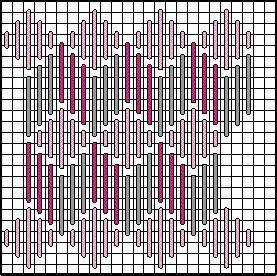 Diamond Zig Zag Decorative Stitch Diagram 3