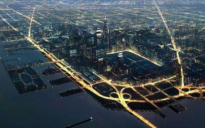 Beautiful city at night wallpaper