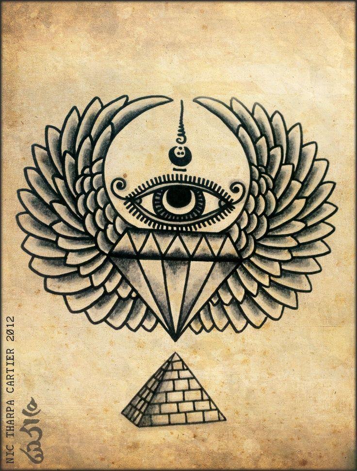Resultado de imagem para tatuagem illuminati                                                                                                                                                                                 More