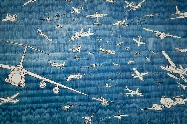 Alighiero Boetti - Aeroplanes (detail) - {biro pen drawing}