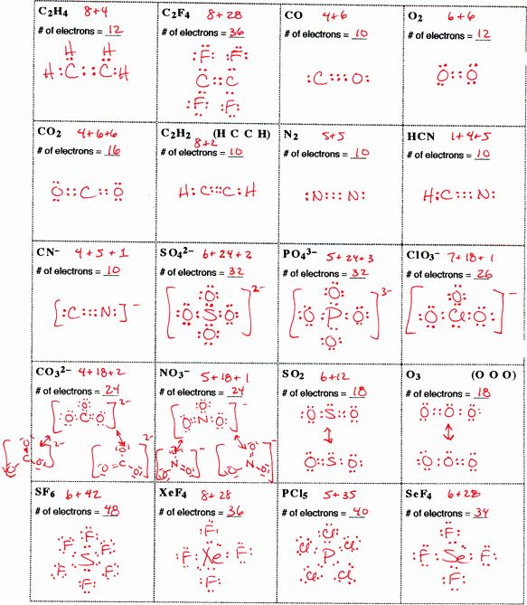 50 Lewis Structure Practice Worksheet In 2020 Chemistry