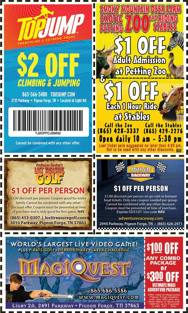 Smoky Mountains Pigeon Forge Coupons Gatlinburg Discount Coupons In 2021 Gatlinburg Discounts Smokies Smoky Mountains