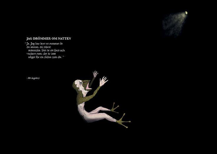 "Lagerkvists ""jag drömmer om natten"" by Anton Krohn #illustration"