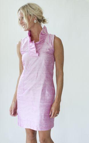 Devon Baer pink ruffle dress...