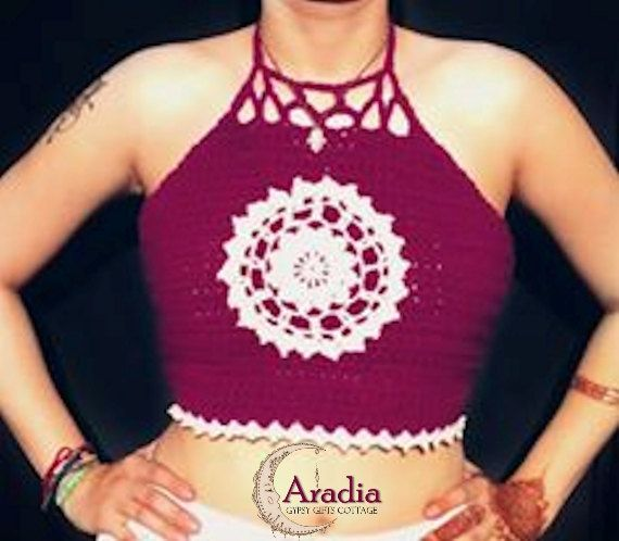 Crochet Mandala Crop Top by AradiaManen on Etsy