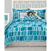 CLOSEOUT! Trina Turk Bedding, Stones Comforter and Duvet Cover Sets $164