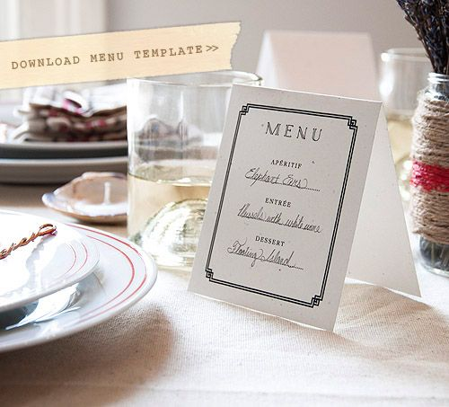 23 best Event Menu Design images on Pinterest Bat mitzvah, Menu - dinner party menu template