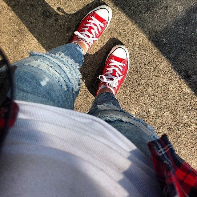 The Classic // Red Low-Top Converse Sneakers. #chucktaylor Photo: @ana_505 on IG