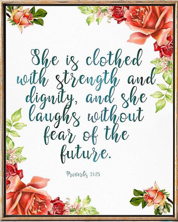 She Is Clothed With Strength And Dignity Canvas: 25+ Best Ideas About Nursery Bible Verses On Pinterest