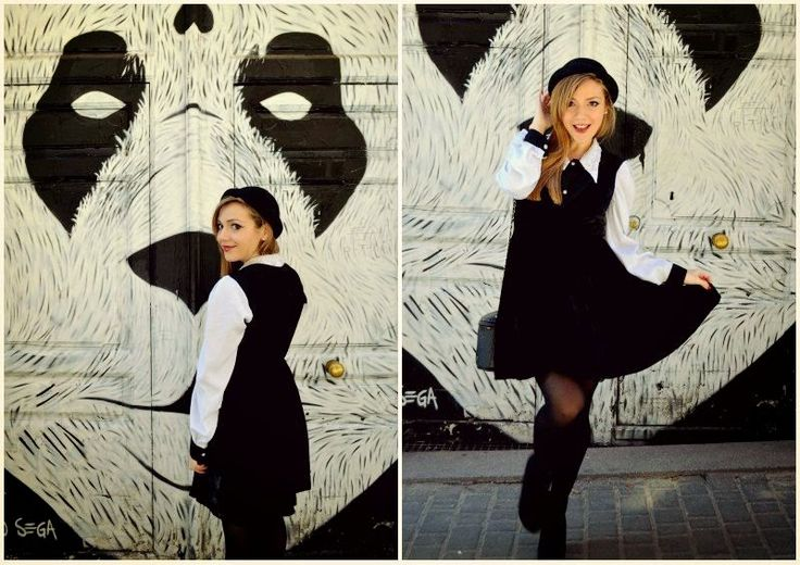 Chic Adicta, fashion blogger, kling dress, autumn fall outfit, look de otoño, moda chicas, black hat, vintage girl, Madrid street style, vestido negro, Piensa en Chic www.PiensaenChic.com