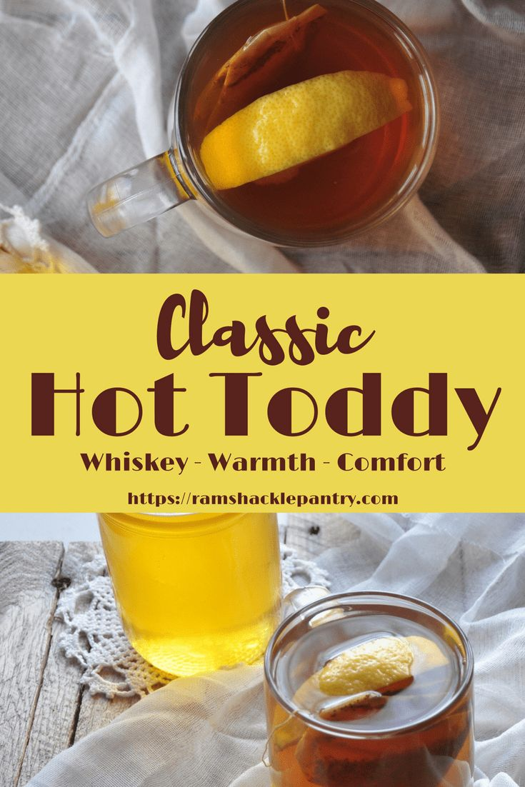 This Classic Hot Toddy recipe is sure to warm your bones and your belly on cold winter nights. This fireplace favorite is easy to make and great to drink #cocktails #christmas #whiskey #honey