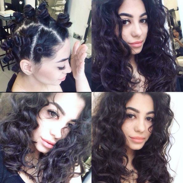 Make bantu knots to get easy beachy waves. | 12 Ways To Transform Your Hair Without Using Even One Electrical Appliance