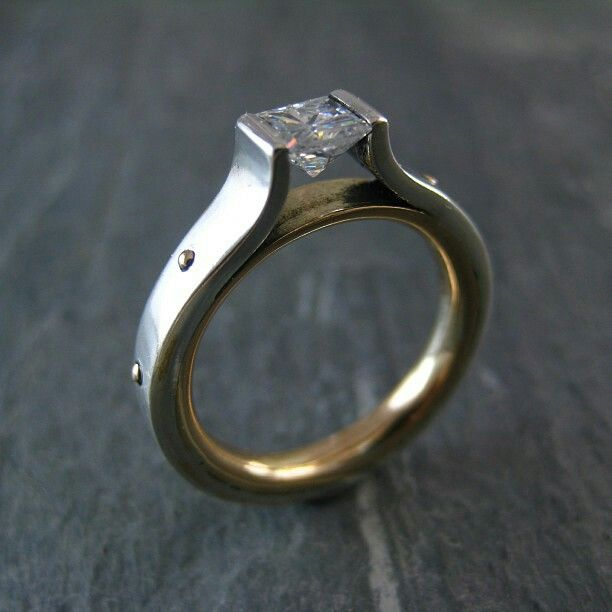 Tension Set Wedding Ring