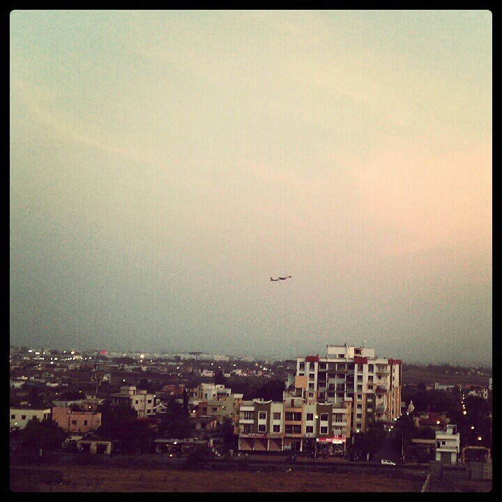 Pune Airport Takeoff