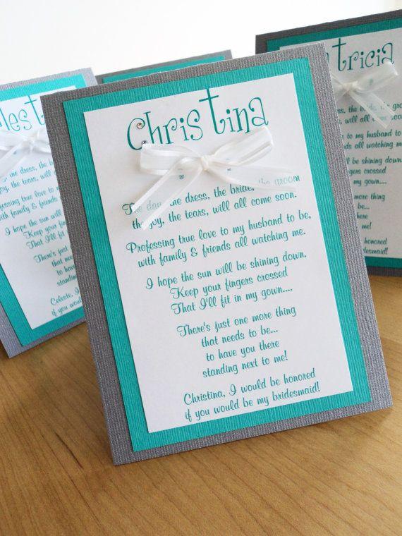 be my bridesmaid -cute way to ask