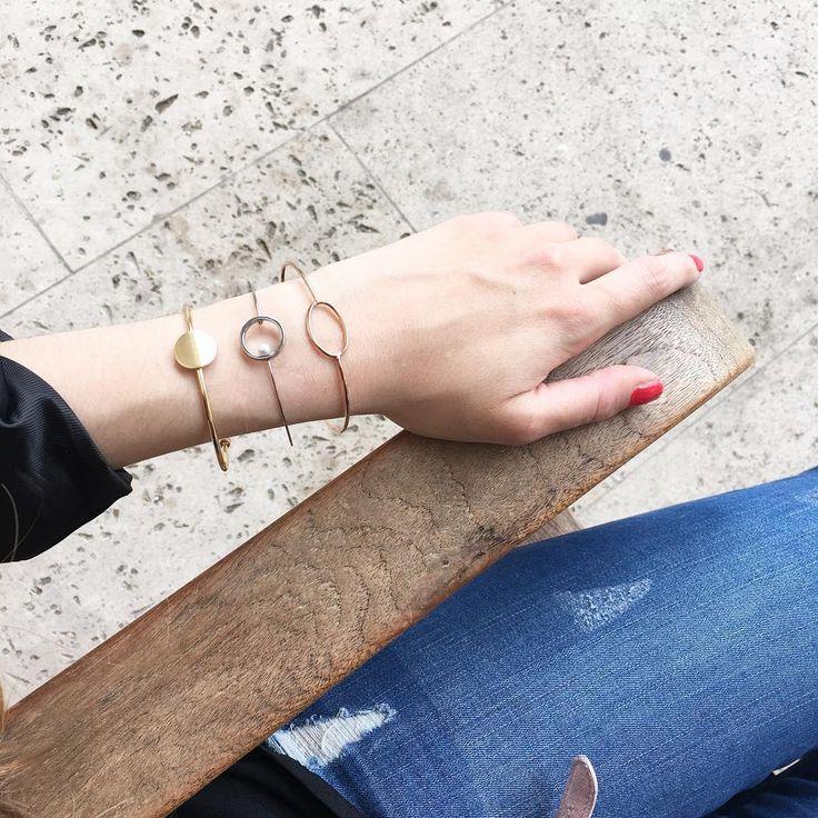 Doré ? Rose doré ? Argenté ? Accumulez vos bracelets ! #alexanneparis