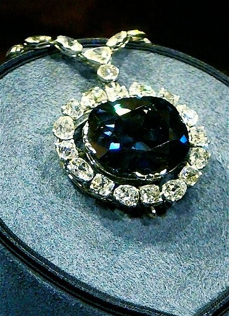 The Hope Diamond - formerly one of the crown jewels of France, having at one time adorned King Louis XIVs Order of the Golden Fleece as well as being used in other pieces from time to time.  It was looted during the revolution and re-cut.