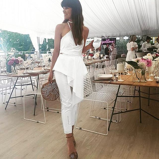 SUNDAY STYLE | all white, @amber_peebles in the Phone a Friend Top. Shop the summer sale in store & online. #sassandbide #summersale