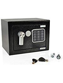 SereneLife Safe Box | Fire Safe Box | Safes And Lock Boxes | Fireproof Lock Box Safe | Digital Safe Box | Home Safe Box | Combination Safe Box | Steel Alloy Drop Safe - Includes Keys (SLSFE12)