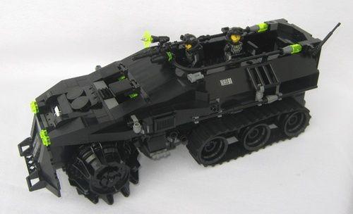 Neo Blacktron - Rhino - Halftrack: A LEGO® creation by Matthias Riedel : MOCpages.com