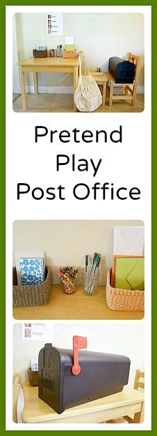 Pretend Play Post Office: Perfect for home or in the classroom to encourage writing and creative play! ~ Buggy and Buddy