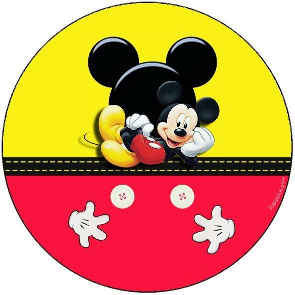 Resultado de imagen para etiquetas redondas de mickey mouse