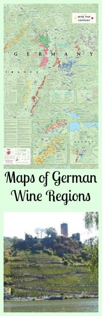 Maps of German Wine Regions- perfect for planning your adventure, or remembering a great trip.