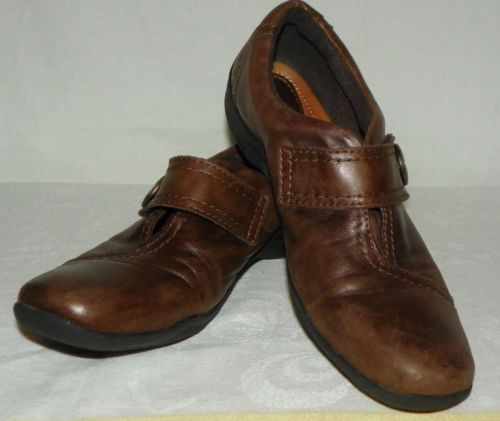 Clarks-Artisan-Womens-Kessa-Betty-Brown-Leather-Loafers-Shoes-Size-7-5-N