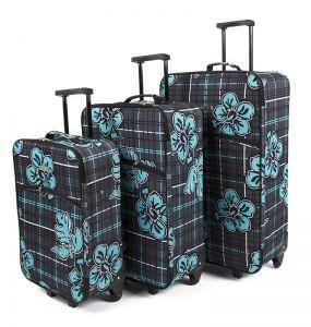 149,00 zł za zestaw 3 walizek!!!   1 mała walizka S,  1 średnia walizka M,  1 duża walizka XL  Kupiłam ostatnio jedną walizkę za 3 stówy, która się rozwaliła - tak się wkurzyłam i zaczęłam szukać czegoś tańszego - prostota jest najważniejsza, bo tam nie ma się co zepsuć. A ten zestaw - za 149zł - rozwaliło mnie!    http://tanio.net/zestaw-walizek-podroznych-rodos-kwiaty.html
