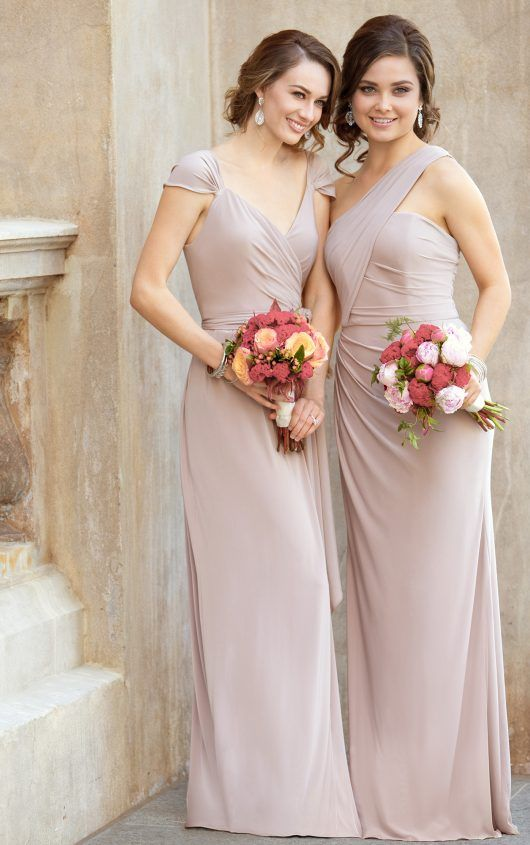 (IV3121) One-Shoulder Sexy Bridesmaid Gown by Sorella Vita With a flirty one-strap neckline, and side-ruching detail, this bridesmaid dress is perfect for the mix-and-match bridal party or on its own. Constructed with the new Luxe Double Knit, the sheath silhouette is as flattering as it is comfortable and moveable.
