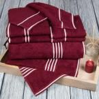 Rio Egyptian Cotton Towel Set in Burgundy (Red) (8-Piece)