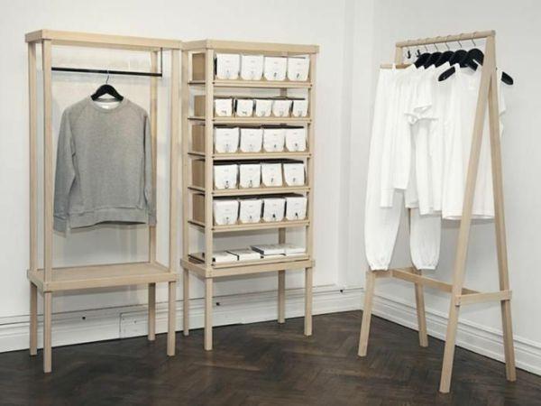 holz kleiderständer ankleidezimmer regalsysteme