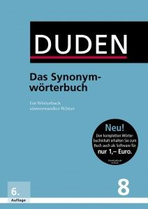 Duden Synonymwörterbuch (24.99 €) *not sure if this would be the correct one; looking for a German - German dictionary, pref. one that is travel friendly