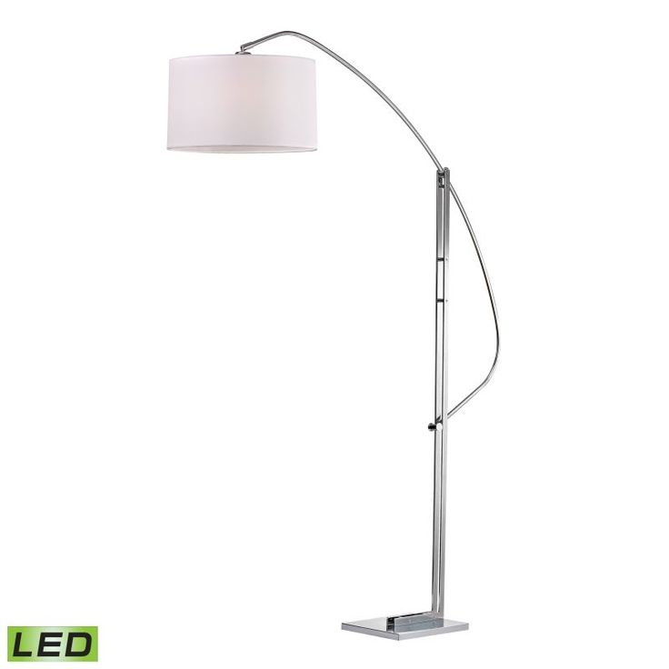 dimond lighting d2471led 1 light led arc floor lamp from the assissi collection polished - Arc Lamps