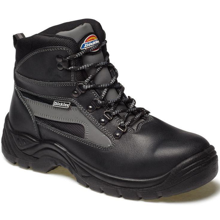 MENS DICKIES SEVERN SAFETY WORK BOOTS SIZE UK 4 - 14 FA23500 BLACK LEATHER in Clothes, Shoes & Accessories, Men's Shoes, Boots | eBay!