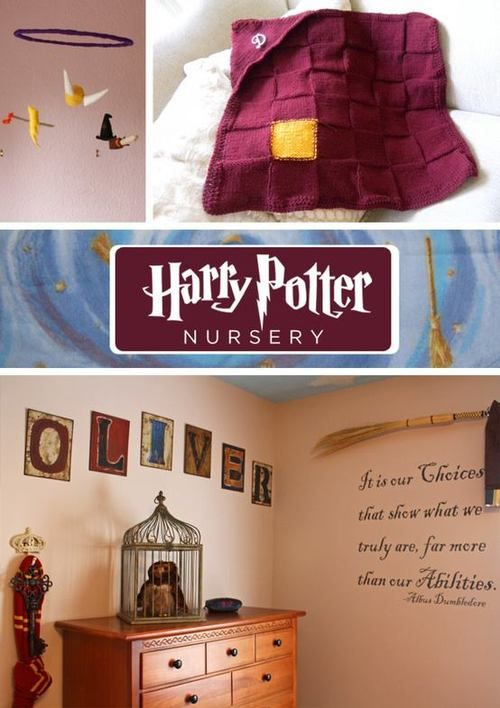 Regardless of the fact that this is a nursery, I rarely see Harry Potter themed rooms that I like.  I really like this.
