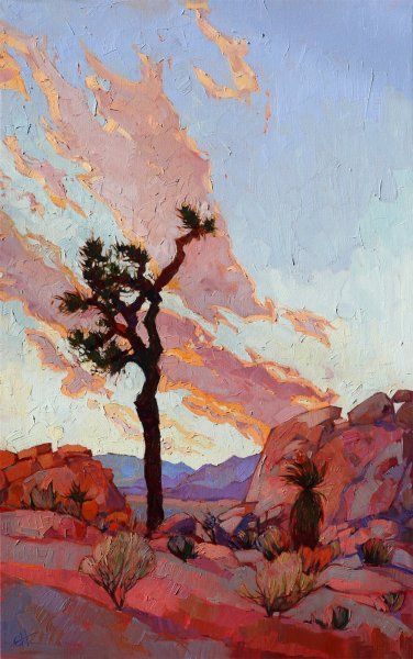 Joshua Tree National Park original oil painting by Erin Hanson