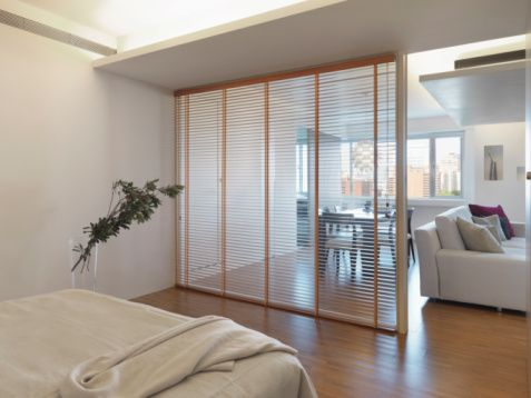 Smart and simple ideas for decorating your studio apartment glasses loft room and dividers - Divider for studio apartment ...