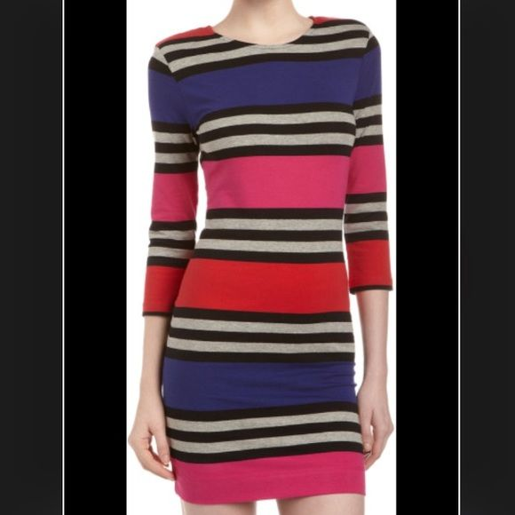 ❤️French Connection Stripe Dress French Connection Multi Jag Stripe Dress - never worn. Perfect for the fall! 98 % cotton and 5% Elastane, super soft. Please make a reasonable offer.  French Connection Dresses