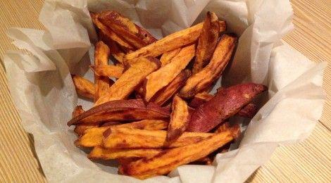 Superfood friet van zoete aardappel