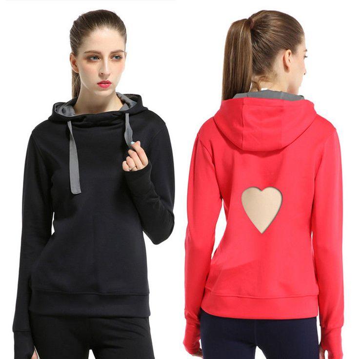 Women Casual Sports Hooded Sweatshirt Long-Sleeve Outdoor Coat Pullover Hoodie