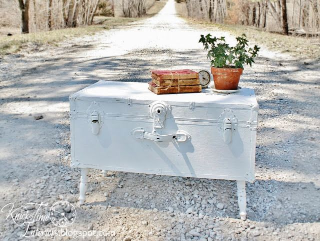 Repurposed Junk Trunk into Coffee Table ~~~via http://knickoftimeinteriors.blogspot.com/