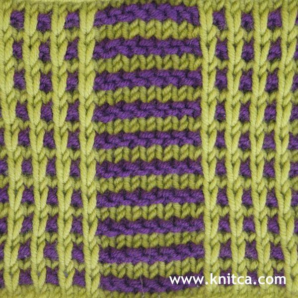 Right side of knitting stitch pattern – Slip Stitch 11