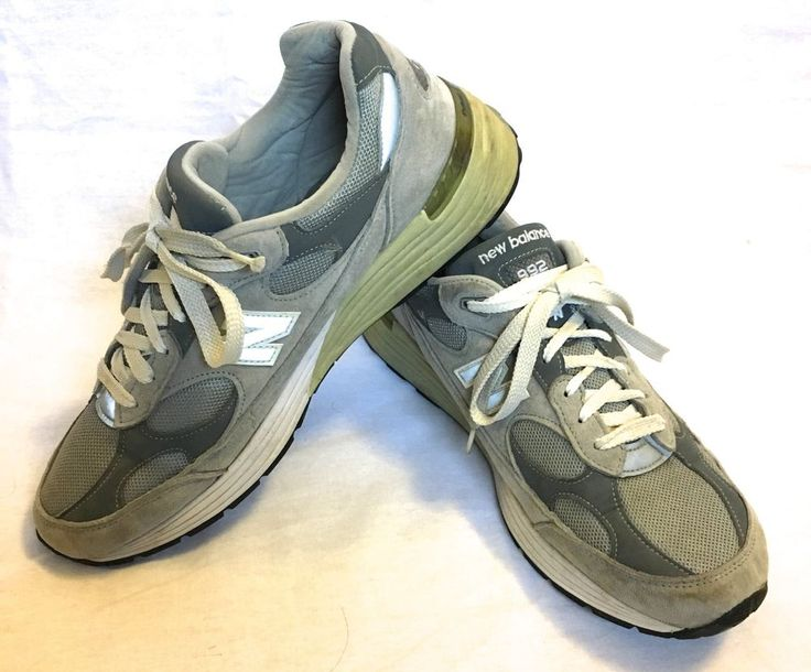 New Balance 992 Made in USA Running Shoes Size 12D Gray Pre Owned  | eBay