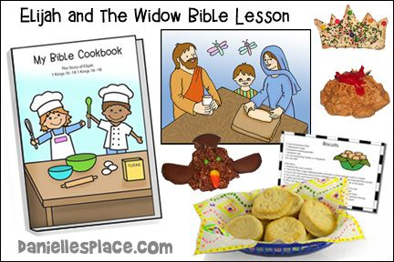 Elijah and the Widow Sunday School Lesson from www.daniellesplace.com