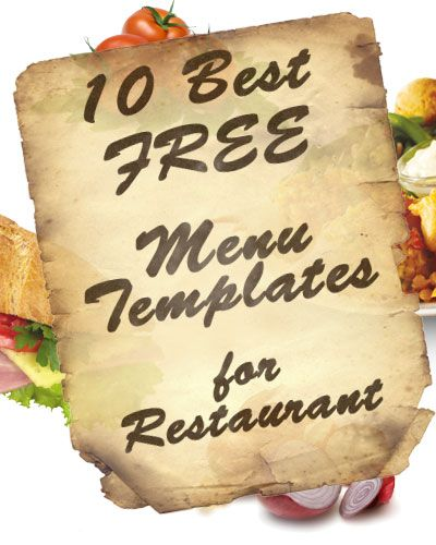 22 best Free Templates images on Pinterest Free printable - free printable restaurant menu template