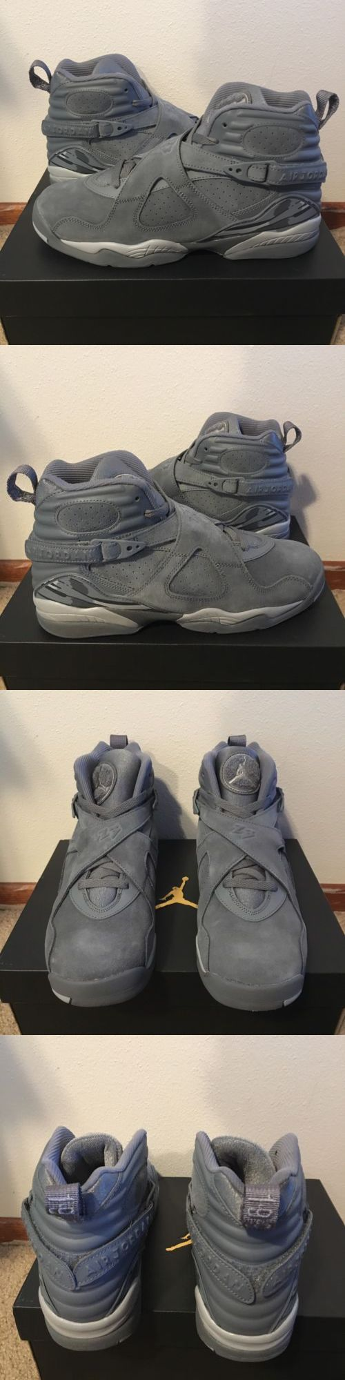 Boys Shoes 57929: Nike Air Jordan 8 Retro Bg Cool Wolf Grey Size 7Y Suede Ds New Authentic Youth -> BUY IT NOW ONLY: $130 on eBay!