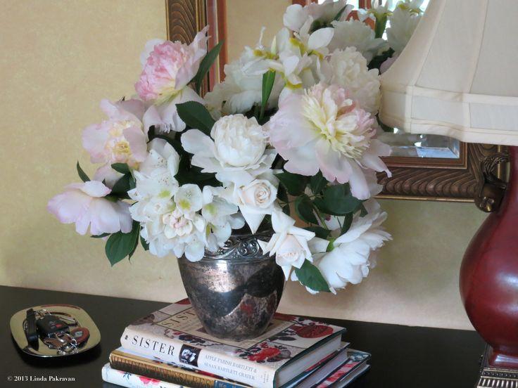 peonies, white rhododendron, roses, iris, 2013