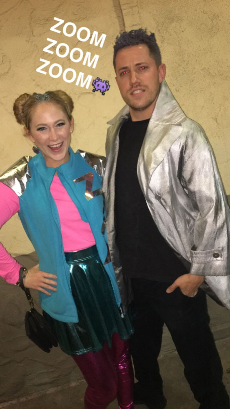 Zenon and Protozoa costumes zenon girl of the 21st century 90s couple costume
