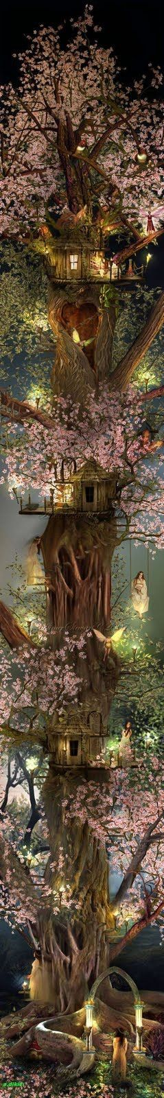 magical . . .: Fairies, Fairy House, Tree Houses, Fairy Tree, Treehouse, Fairy Garden, Faerie, Fairytale